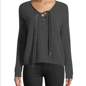 Rails lace up sweater